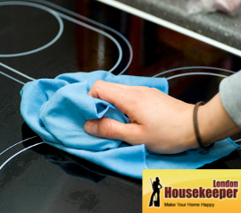 Wiping a Stove Top